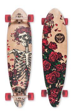 Dusters California x Grateful Dead | Bertha Longboard Skateboard