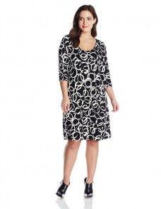 58f9ef2c3fc90 Karen Kane Women s Plus-Size Artistic Ring T-Shirt Dress