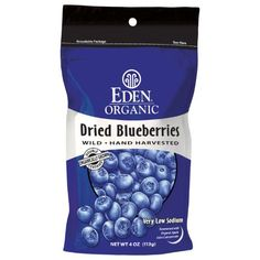 Eden Organic Dried Wild Blueberries, 4-Ounce Pouches (Pack of 3) $22.93