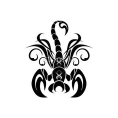 Scorpione Tatuaggio-Scorpio Tatoo-Tatouage Scorpion ❤ liked on Polyvore