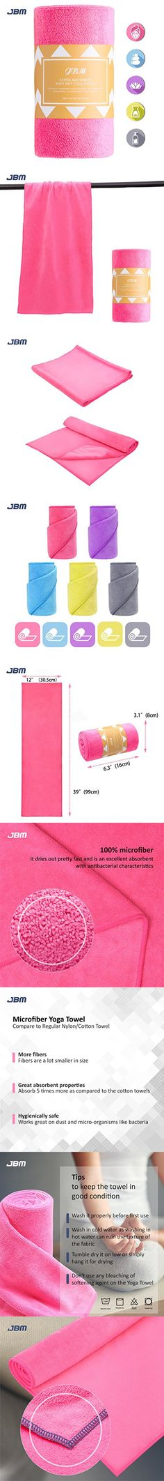 13 x 39 Microfiber Non-Slip Yoga Gym Weightlifting Mat Gym Bench Towels 3 Pack