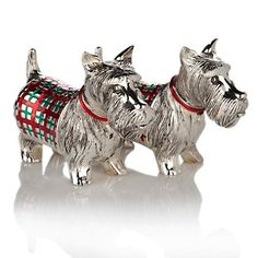 Jeffrey Banks Scottie Dog Silver-Plated Metal Salt and Pepper Shakers at HSN.com