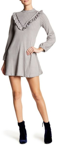 Living Doll Ruffled Hacci Sweater Dress