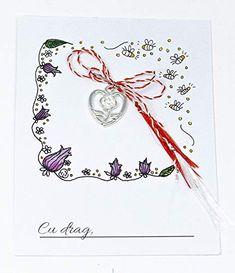 Martisor inimioara cu floare, 1 Martie,: Amazon.co.uk: Handmade Amazon, Handmade, Art, Art Background, Amazons, Hand Made, Riding Habit, Kunst, Performing Arts