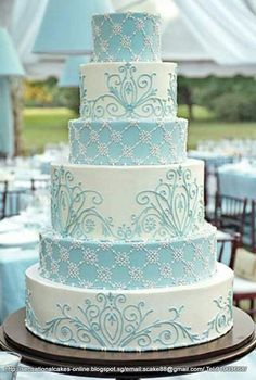 tiffany blue and silver quinceanera cakes - Google Search: