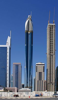 The Rose Tower, also known as Rose Rayhaan by Rotana, is a 72-storey, 333 m (1,093 ft) hotel on Sheikh Zayed Road in Dubai, United Arab Emirates. It was the world's tallest hotel from 2009-2012.[6] The tower was originally to be 380 m (1,250 ft), but design modification reduced it to 333 m (1,093 ft).