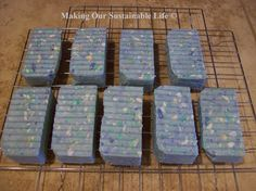 Rebatching Soap.  Make new soap from old.  Here is how to take old soap slivers or free soap you pick up at the motels/hotels to make large, bath sized bars of soap!  No lye and no curing necessary