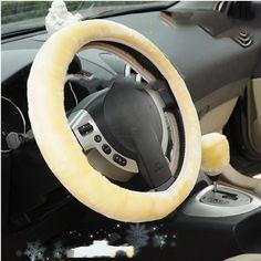 1 STÜCKE Qualitäts-weicher Warm Wolle Plüsch Winter Auto Lenkradabdeckung Universal Auto Lieferungen Auto styling Zubehör