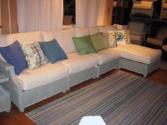 Lloyd/Flander's showroom is awash with white with accent color this season. #HPmkt via @ronfoochun