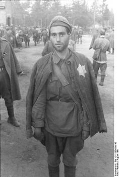 Jewish Soviet POW captured by the German Army, August 1941. (Note: The Soviet Union treated their Jewish population harshly as they could not be trusted according to Stalin and Jewish soldiers were treated deplorably to say the least.)