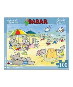 Loving this Babar at the Beach Jigsaw Puzzle on #zulily! #zulilyfinds