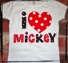 I HEART MICKEY T-shirt or Onesie. $25.00, via Etsy.