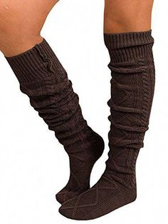 e5fb93efa53 online shopping for Leg Warmers Winter L  ZZ Women Cable Knit Thigh High  Socks Knee High Socks Boot Socks from top store. See new offer for Leg  Warmers ...