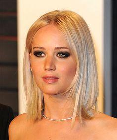 Jennifer Lawrence Straight Blonde Bob