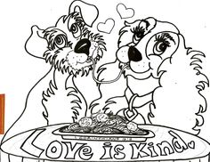 ''LOVE IS KIND''  PRINTABLE COLORING SHEET. More Coloring Sheets available on: www.facebook.com/TheGoodNewsCartoon