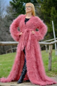 TO ORDER hand knitted mohair shrug handmade summer robe fuzzy mohair robe hairy mohair shrug one size sweater mohair coat pink fuzzy shrug