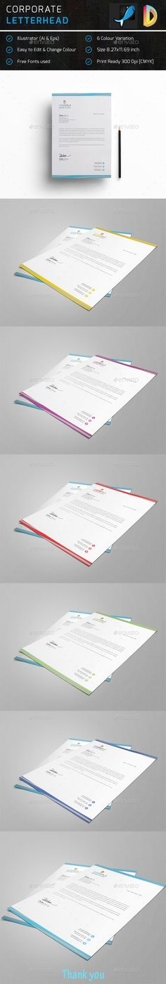 Letterhead - #Stationery Print Templates Letterhead Pinterest - corporate letterhead