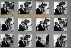 Ray Charles at the Jazz à Juan festival in 1961 (July 20, 21 or 23). Contact sheet of series shot by Jean-Pierre Leloir.