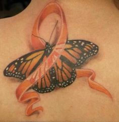 I have a butterfly on my right shoulder, should I have this ribbon of MS awareness added to it? Thoughts?