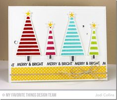 Oh Christmas Trees Stamp Set and Die-namics, Merry Everything Stamp Set - Jodi Collins #mftstamps