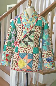 Cozy Quilted Coat – IJ871 sewing pattern from IndygoJunction.com - recycling an old quilt for fabric