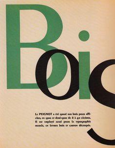 Página de espécimen de tipografía Le Peignot.