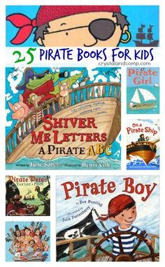 25 Pirate Books for Your Little Matey pirate activities for kids: 25 books children should read as we have fun on talk like a pirate day Preschool Pirate Theme, Pirate Activities, Preschool Books, Preschool Activities, Activities For Kids, Activity Ideas, Craft Ideas, School Themes, Classroom Themes