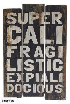 Wooden Wall Art - Supercali BLACK | Trade Me