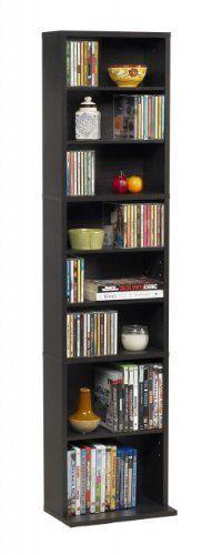 Atlantic Media Cabinets Wall Shelves Storage Bookshelf CD DVD Cases Set Espresso #Atlantic