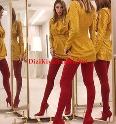 Arif v 216 Gala gecesi Seyma Subasi diz üstü cizmeleri Global Brands, Leather Jacket, Red, Jackets, Shoes, Instagram, Dresses, Dress Clothes, Ikon