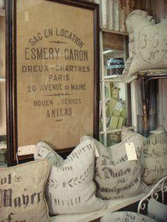 old grain sacks