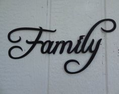 palabra de la familia metal decorativa pared arte home decor