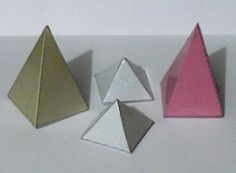 Free template to make pyramids and other shapes for #math