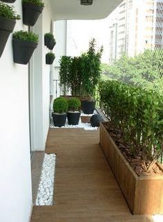 plantas na varanda