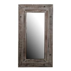 Add warmth to any decor with the rustic mirror made of reclaimed wood with a distressed grey finish. The large size provides a great background accessory to show a room's best features.