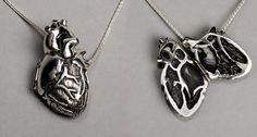 Silver Anatomical Heart Locket