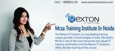 Rexton IT Solutions is the best MCSA Training Institute in Noida. MCSA Server 2012 training program durations are Weeks Regular Classes. Get the best out of your time and money while undergoing the MCSA server 2012 training. Training Classes, Training Programs, Windows Server 2012, It Network, Technology, Money, Tech, Workout Programs, Silver
