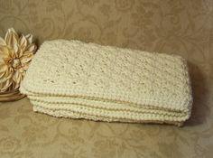 Crochet Baby Blanket, Baby Boy Blanket, Baby Girl Blanket, Cream Stroller, Travel Blanket, Baby Shower Gift, Free US Shipping by dreamfancies on Etsy