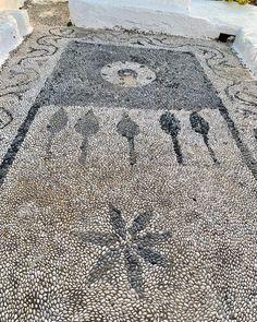 M Kedros on Instagram: kasos island dodecanese pebble mosaic kasos kassos greekislandmosaic greekisland mosaico Pebble Mosaic, Stone Mosaic, Bohemian Rug, Island, Rugs, Instagram, Home Decor, Mosaics, Farmhouse Rugs