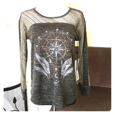 NWT Miss Me Dreamcatcher top Cute long sleeve one of a kind top has just the right amount of sparkle. Miss Me Tops