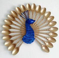 20 Stunning Peacock Crafts for Kids Pfau basteln für Kinder Diy Home Crafts, Creative Crafts, Fun Crafts, Crafts For Kids, Arts And Crafts, Paper Crafts, Amazing Crafts, Diy Paper, Creative Ideas