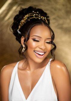 Black Brides Hairstyles, Wedding Hairstyles For Girls, Natural Wedding Hairstyles, Bride Hairstyles, African Wedding Hairstyles, Black Bridal Makeup, Wedding Hair And Makeup, Hair Makeup, Natural Hair Wedding