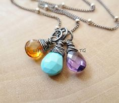 Any Birthstone necklace. Gold or Silver.