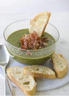 Potato soup goes a healthy green
