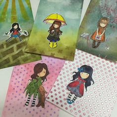 New collectible mini gorjuss girls stamps February 2016