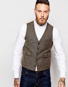 ASOS Slim Vest In Donegal