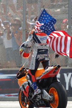 Nicky Hayden - 69  Laguna Seca 2006   'Merica.... Was Lucky Enough to Witness This Moment in Person.