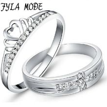 Get The Latest Fashion Jewelry  Fyla Mode 1Pair=2pcs 925 Sterling Silver Ring Jewelry Engagement Love Crown Cross Zircon Wedding Lovers Couple Rings Women Men     Buy Jewelry At Wholesale Prices!     FREE Shipping Worldwide     Buy one here---> http://jewelry-steals.com/products/fyla-mode-1pair2pcs-925-sterling-silver-ring-jewelry-engagement-love-crown-cross-zircon-wedding-lovers-couple-rings-women-men/    #fashion
