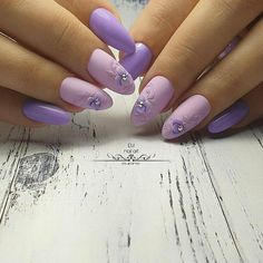 Valentine's Day Nail Designs, Best Nail Art Designs, Colorful Nail Designs, Cute Nails, Pretty Nails, Purple Nail Art, Bride Nails, Shiny Nails, Nail Art Rhinestones