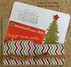 A second photo of my Envelope Punch Board gift card holder - showing the insert.